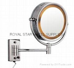 带灯浴室镜