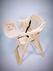 折叠实木婴儿椅