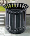 Flower basket dustbin