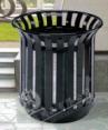 Flower basket dustbin