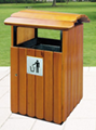 Out door wooden dustbin