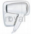 wall mounted hair dryer with dual vottage shaver socket