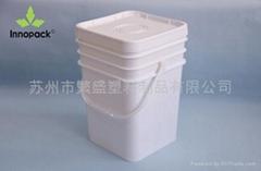 廣口20L塑料方桶