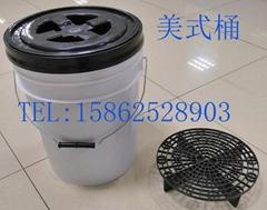 gamma螺紋蓋洗車塑料桶20L美式桶