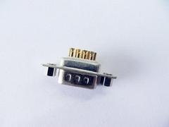 d-sub9pin焊線實芯鍍金公頭連接器