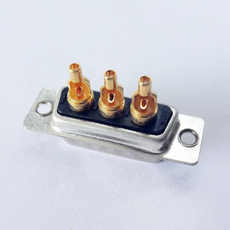 廠家直銷d-sub大電流車針連接器3w3實芯焊線式接頭 1