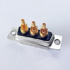 厂家直销d-sub大电流车针连接器3w3实芯焊线式接头