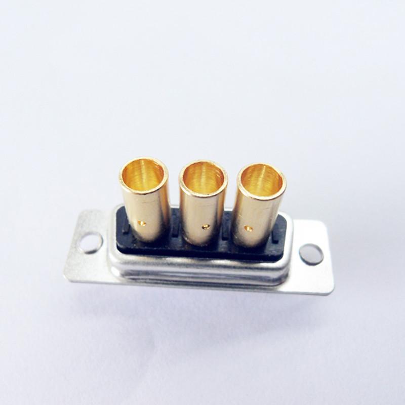 廠家直銷d-sub大電流車針連接器3w3實芯焊線式接頭 3
