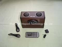 Sound box with slot of card and Udisk + FM