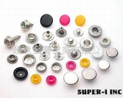 四合扣, 押釦, 金属钮釦, 鱼眼釦, 急钮, 车缝钮