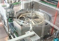 啤酒玻璃瓶沖洗灌裝封蓋機組