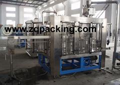 CGF16-12-6 礦泉水沖瓶、灌裝、封蓋三合一體機