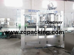 DXGF18-18-6 Carbonated drink GLASS BOTTLE filling machine