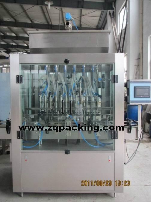 Surface care filling machine, abrasive gel cleaners filler and trigger spray c