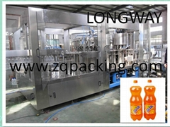 Carbonated Drink Production Line For PET Bottle Soft Filling Machine