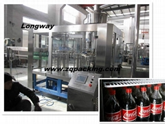 Automatic carbonated beverage bottling machine