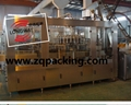 Apple nectar filling machinery in bottles