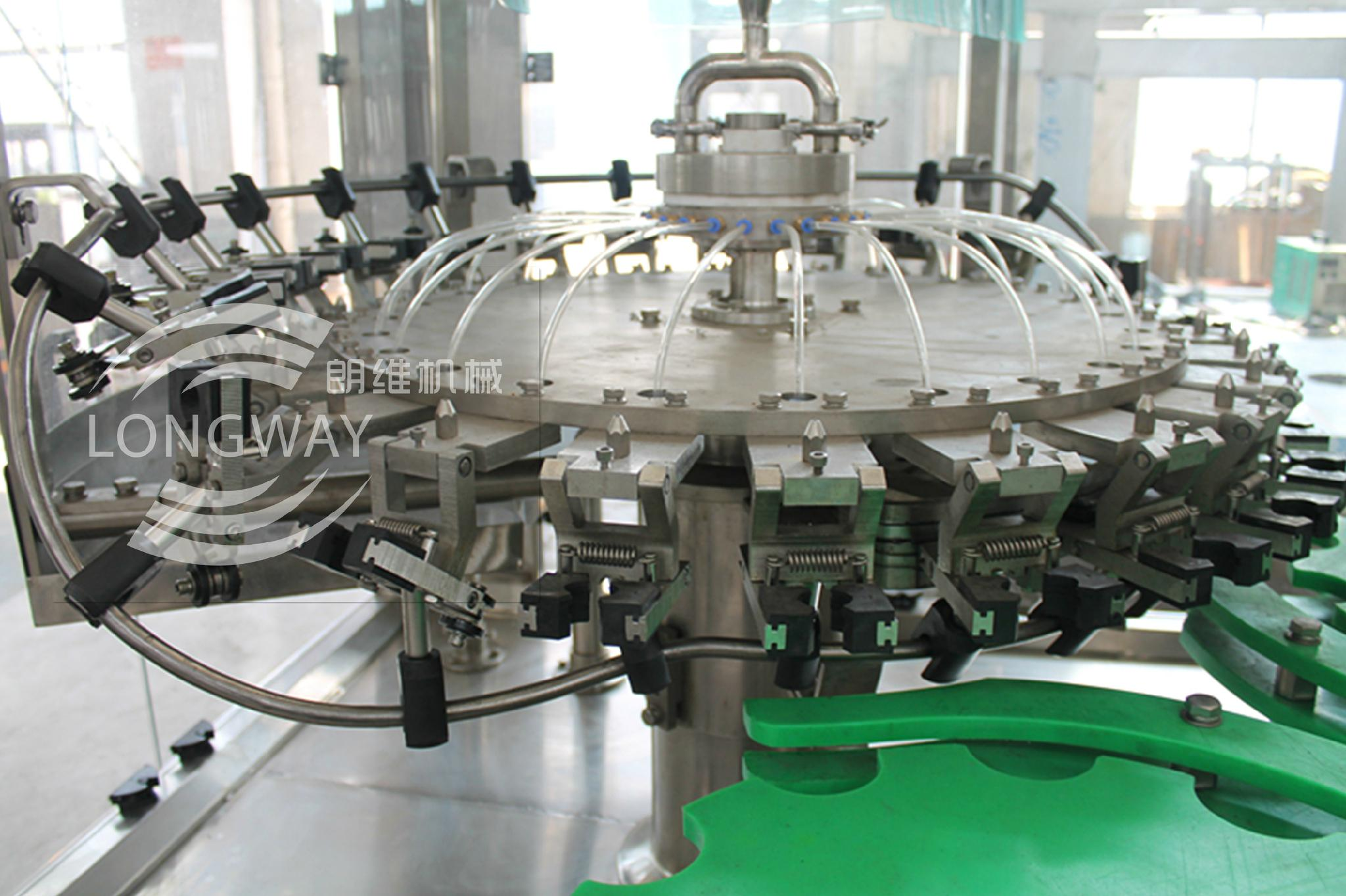 玻璃瓶果汁飲料拉環蓋沖瓶灌裝封口機 2