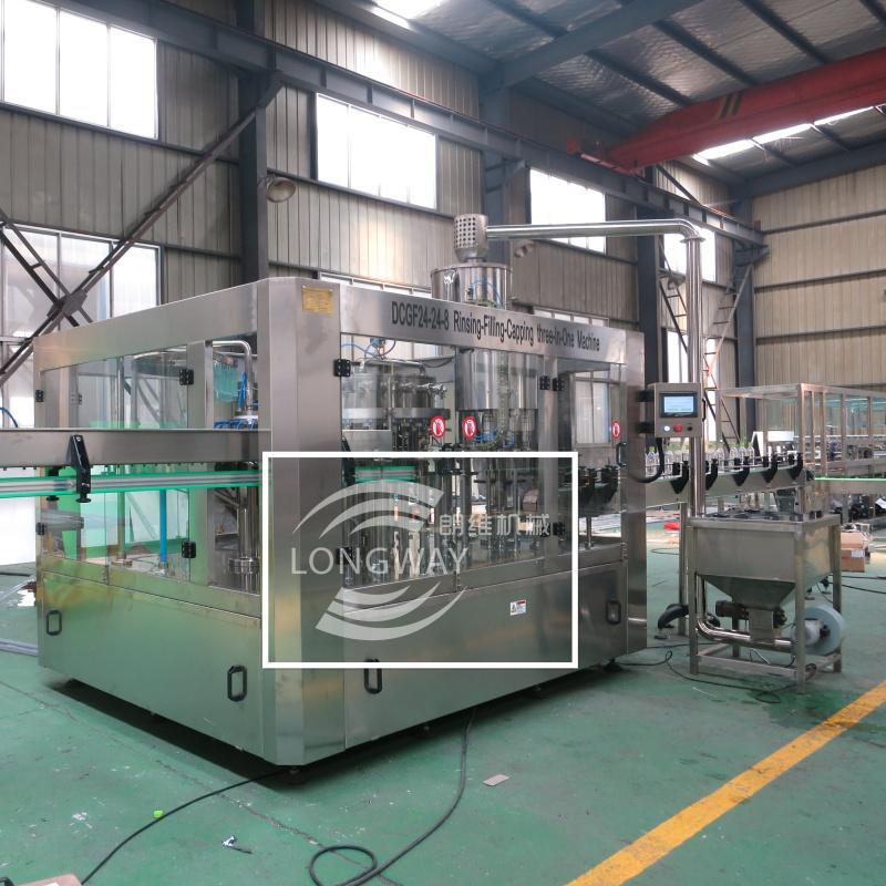 DCGF24-24-8 全自动含气饮料生产线/等压灌装设备 7