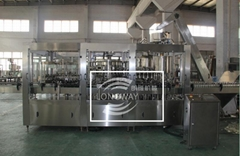 Remove oxygen Juice filling machine for glass bottle with metal cap