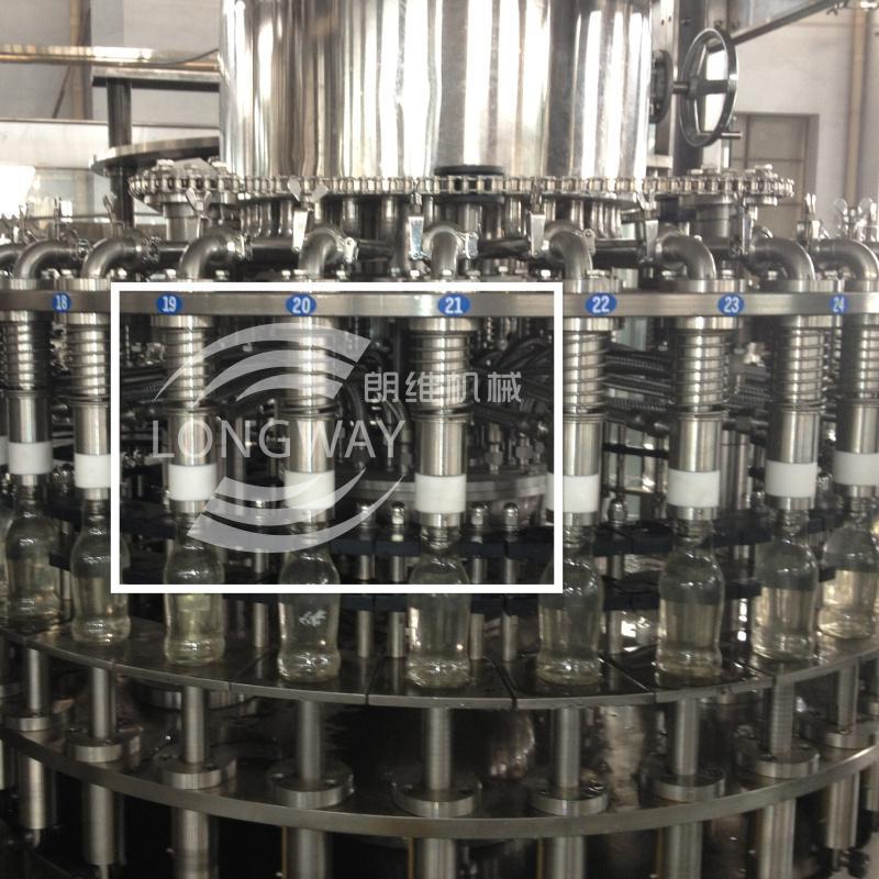 四合一玻璃瓶三旋蓋、四旋蓋果汁脫氧灌裝機 4