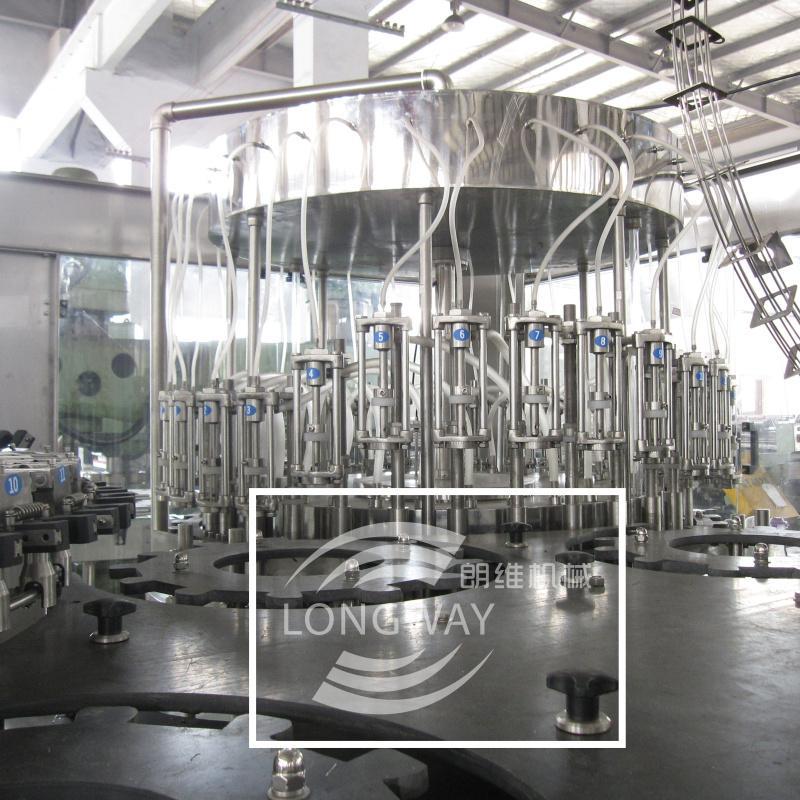 扁瓶玻璃瓶威士忌灌裝機 扁瓶鋁蓋白酒沖洗灌裝旋蓋一體機 3