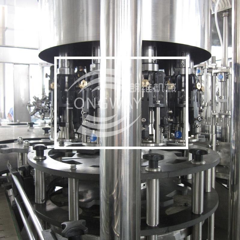 扁瓶玻璃瓶威士忌灌装机 扁瓶铝盖白酒冲洗灌装旋盖一体机 4