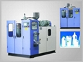 Fully automatic extrusion blow moulding