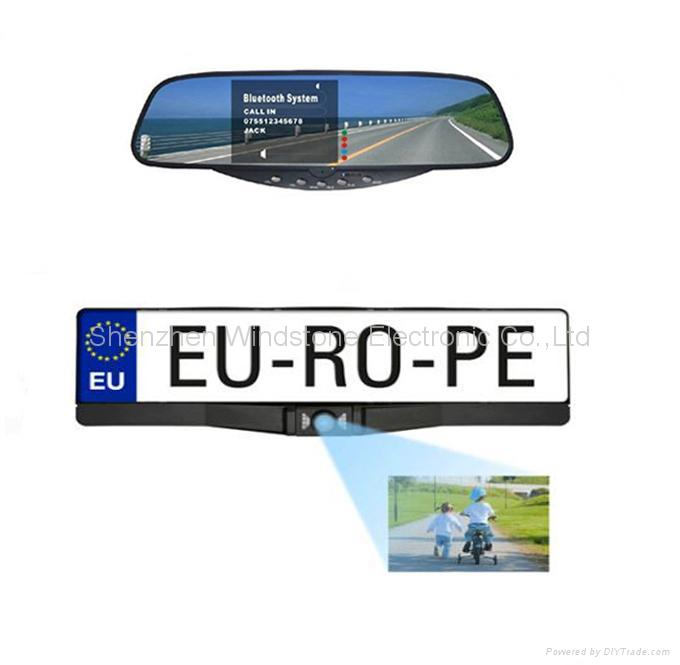 European License Plate Frame Car 2.4 GHz Wireless Camera 1