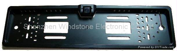 European License Plate Frame Car 2.4 GHz Wireless Camera 2
