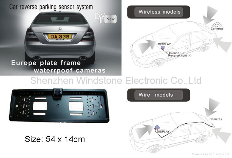 European License Plate Frame Car 2.4 GHz Wireless Camera 3