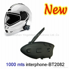 NEW ARRIVAL Motorcycle Helmet Bluetooth Intercom Headsets MP3 Music Player Motor