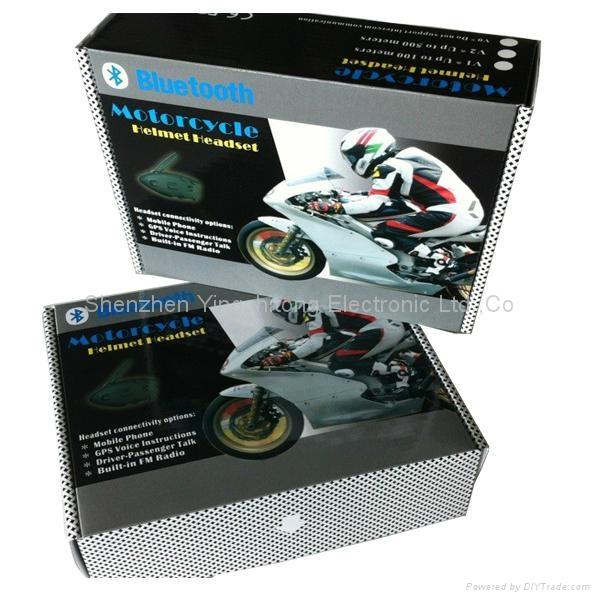 NEW ARRIVAL Motorcycle Helmet Bluetooth Intercom Headsets MP3 Music Player Motor 4