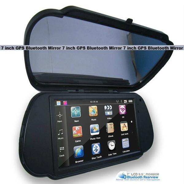 7 Inch GPS Mirror Navigation High Definition Bluetooth Handsfree 2