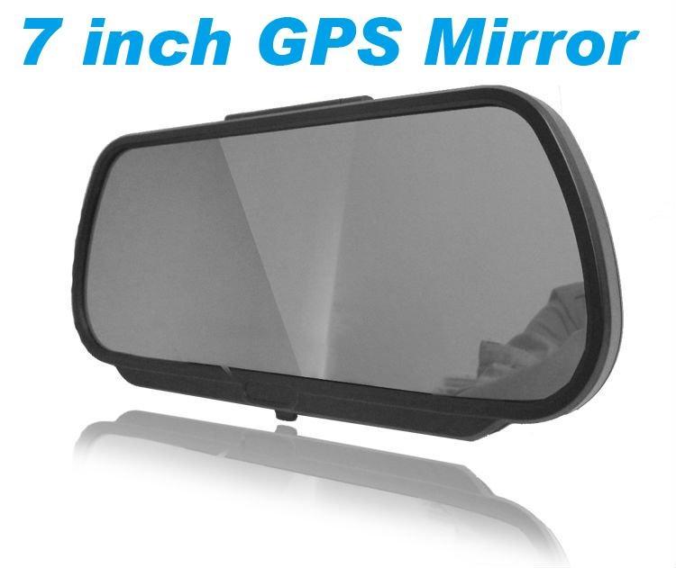 7 Inch GPS Mirror Navigation High Definition Bluetooth Handsfree 1