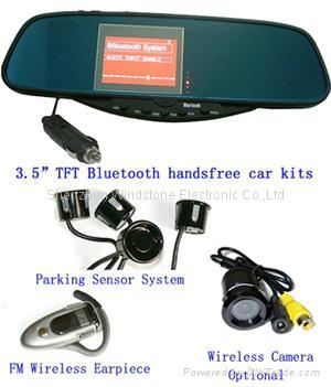 "Wireless Camera System+Car bluetooth handsfree rearview mirror 3.5"" TFT Monitor 3"