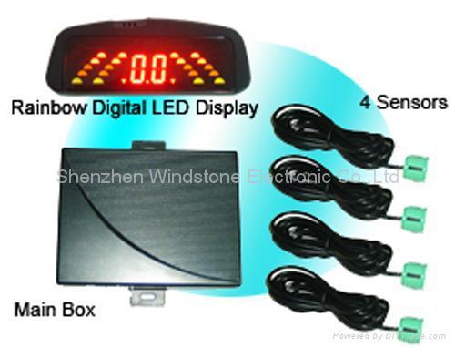 Rainbow LED Display Car Parking Sensor System (RD036C4) 1