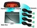 Rainbow LED Display Car Parking Sensor System (RD036C4)