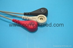 ECG holter cable din style leadwire