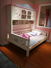 青少年北歐全實木衣櫃床