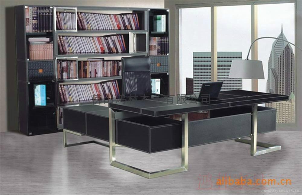 高檔豪華辦公桌老闆桌大班台辦公傢具 2