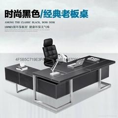 高檔豪華辦公桌老闆桌大班台辦公傢具