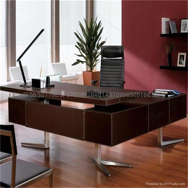 佛山現代辦公傢具老闆桌皮面大班台辦公桌 1