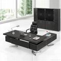 佛山現代辦公傢具老闆桌皮面大班台辦公桌 4