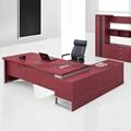 高檔皮面辦公傢具老闆桌現代大班台桌椅 5