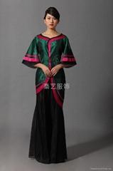 古典绣花礼服上装