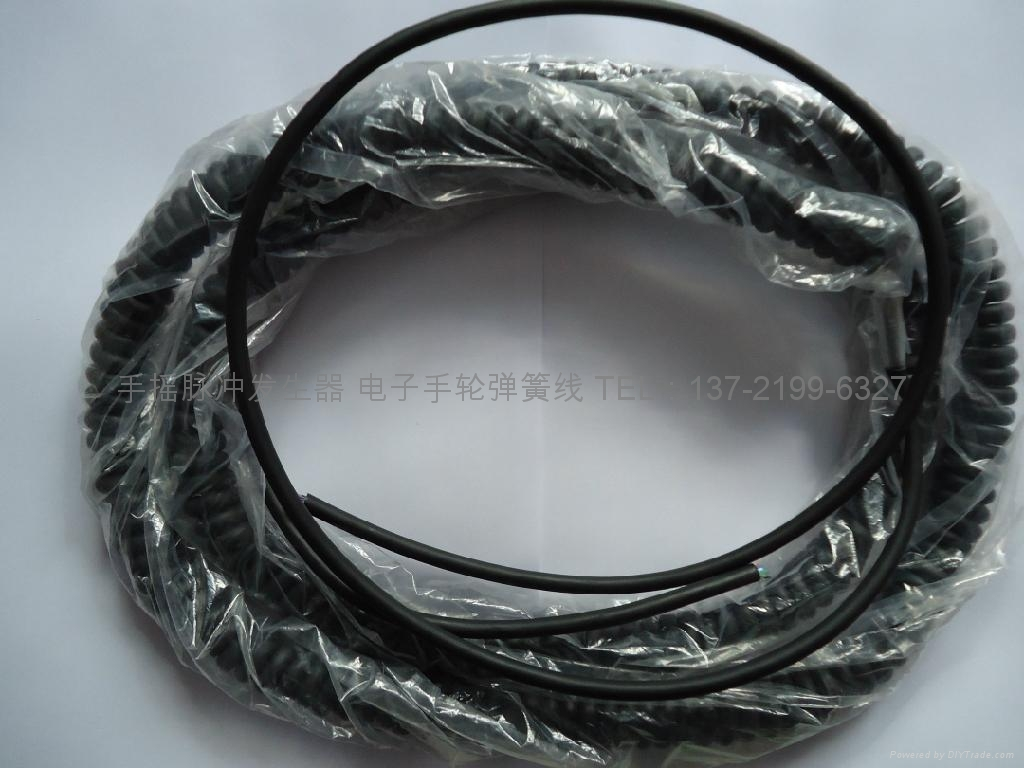 電子手輪屏蔽螺旋電纜,5M.10M,15M,17芯,27芯電子手輪彈簧線 4
