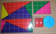 幾何圖形冰箱貼