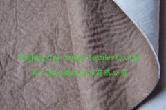 Suede Bonded Sponge Sofa Fabric