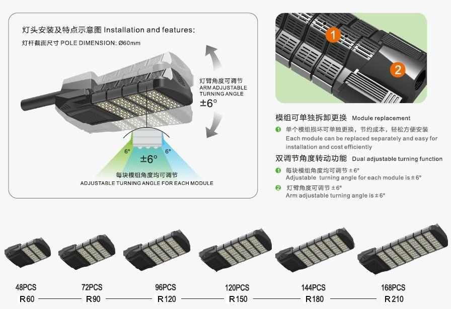 LED Street Lights 120W 2